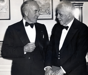 Robert Frost and Archibald MacLeish 1954.