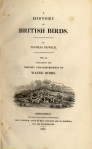 History of British Birds vol. 2 title page