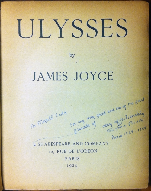 Ulysses. Paris, 1924.