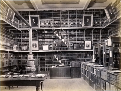 Morgan Library was built in 1853 at a cost of $10,000.  The architect  was Henry Alexander Sykes (1810-1860) of Suffield, Connecticut.