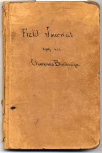 Birdseye 1910-11 Field Journal