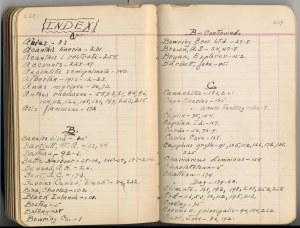 Birdseye field journal, 1912.