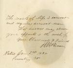 Henry R. Pierce to classmate Amos Hill Coolidge