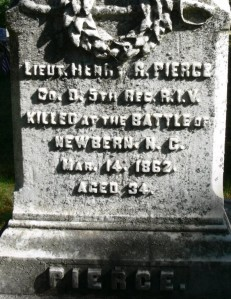 """Inscription on Pierce's monument.  Photograph by """"Ryk"""" at www.findagrave.com."""