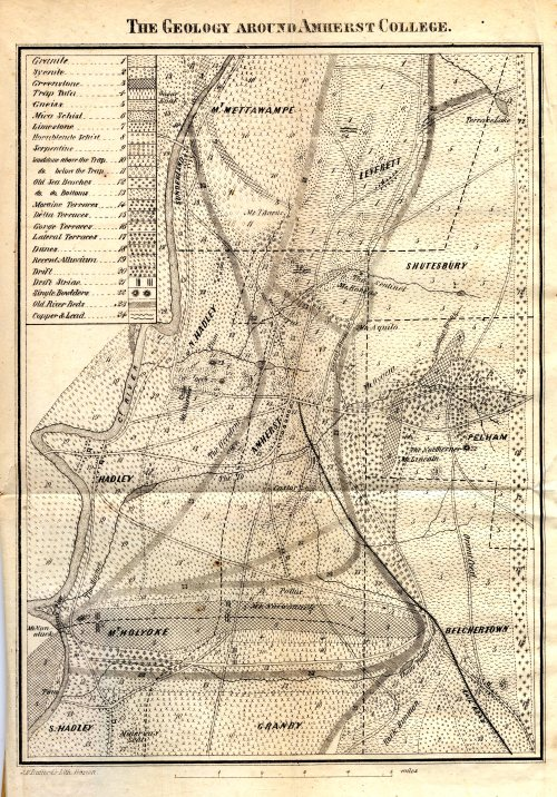 """The Geology Around Amherst College,"" from Hitchcock's ""Reminiscences"" (1863)"""