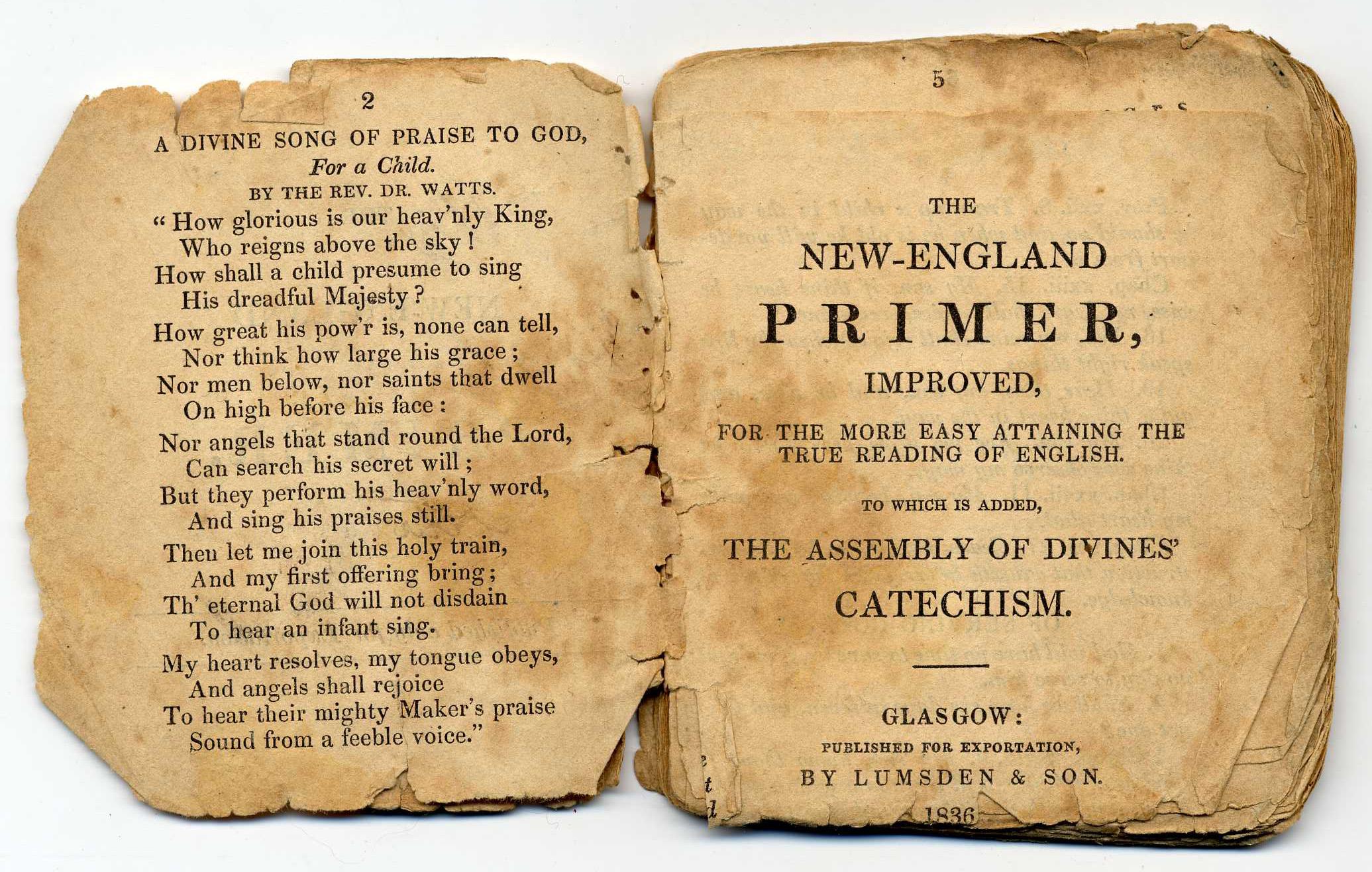 New England Primer 1836