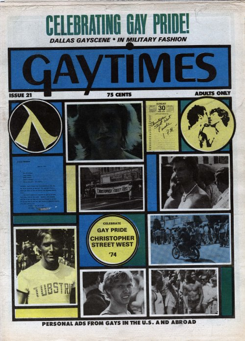 Gaytimes. Issue 21. Van Nuys, CA, 1974.