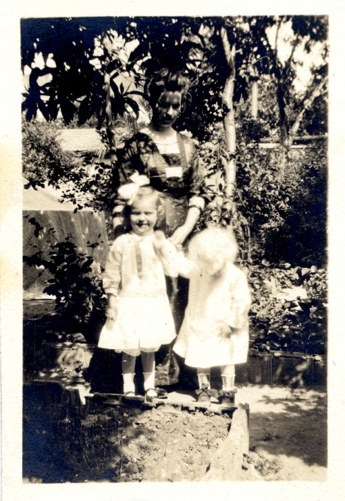 Charlotte Allen Ward with two of her children (Esther and Paul?), Beirut, 1913.  From the Paul Langdon Ward (AC 1933) Papers.