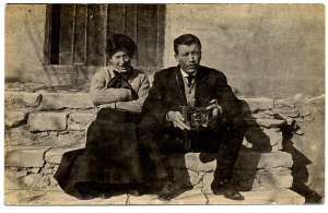 Earl Ward and Dora Judd Mattoon in Turkey, ca. 1912