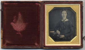 The daguerreotype sent to Millicent Todd Bingham in 1945, now at Amherst College
