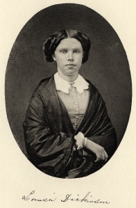 Louisa Dickinson, from a daguerreotype reproduced in Foreshadowings of Smith College