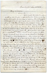 First page of G.W. Graves letter. Transcription below!