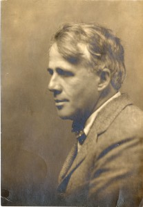 Photographic portrait of Robert Frost