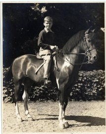 Richard Aldridge as a child on horseback