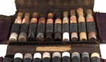 Druggist case and medicine vials