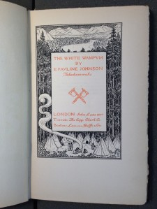 Title page of The White Wampum
