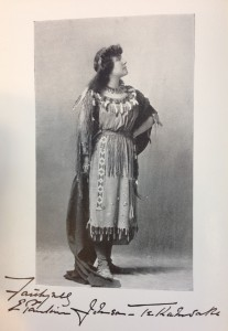 Portrait frontispiece of E. Pauline Johnson from Canadian Born (1903)