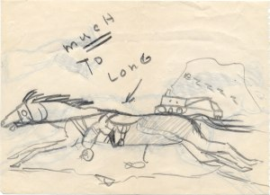 Sketch of a horse by Richard Aldridge, 1940