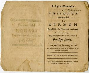 Arthur Browne. Boston, 1739.