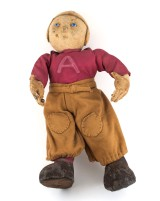 Football player doll, ca. 1920s