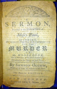 Samson Occom. Fourth edition, 1772.