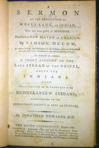 Samson Occom. London, 1788.