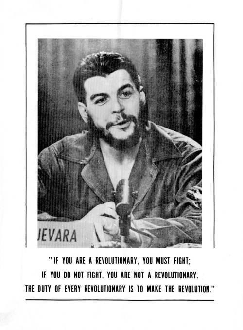 Che Guevara broadside printed by the New World Liberation Front, San Francisco.
