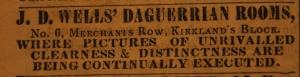 Jeremiah D. Wells ad, 1851-52, Hampshire Gazette