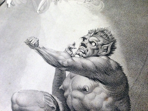 Caliban (detail) Boydell, 1852.