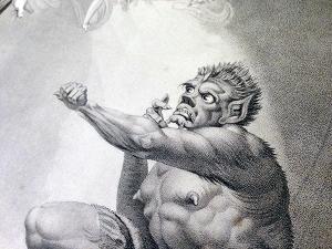 Caliban (detail) Boydell, 1852.