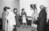 Trustees' wives touring the newly completed Crossett Dormitory, November 1963. (67-080-3 neg 39)