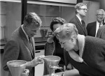Open house in the new Merrill Science building, November 1968. (68-082-a4 neg 10)