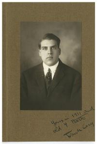 Frank Cary as an Amherst senior, 1911