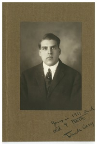 Frank Cary as an Amherst senior, 1911