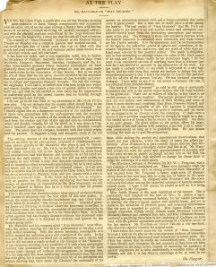 """Early review of """"Beau Brummell"""" (1890)"""