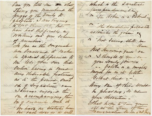 Edward T. Esty to Robert P. Esty regarding Dickinson manuscripts owned by the family