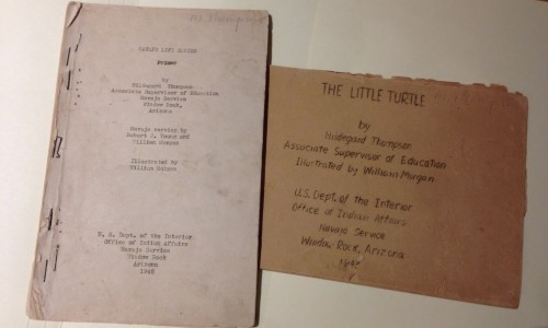 Navajo Life Series: Primer and The Little Turtle, early mimeographed versions from 1942 and 1943.