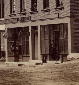Kellogg store in Merchants Row, across from the town common.