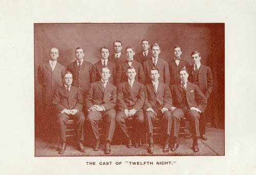 The cast picture in the program
