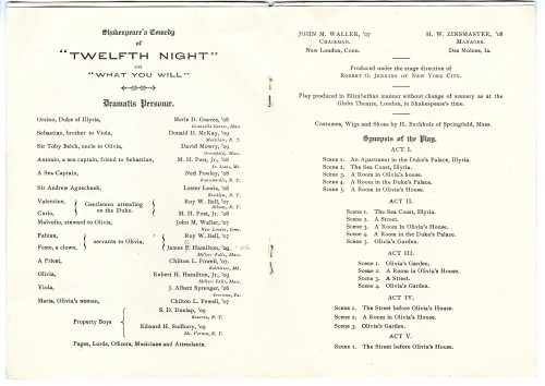 Cast list from program