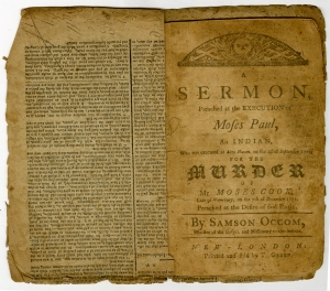 Samson Occom. A Sermon... (1772)