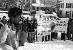 Rally prior to Trustees Investment Committee meeting, December 1977