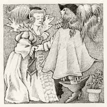 Maurice Sendak illustration from  Fortunia ; a tale by Mme. D'Aulnoy