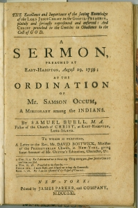 Samuel Buell. The excellence and importance of the saving knowledge of the Lord Jesus Christ in the gospel-preacher. (1761)