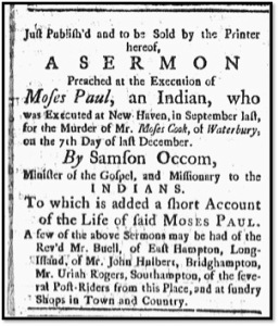 The New-London Gazette. November 13, 1772.