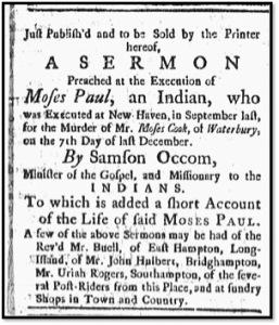 The New-London Gazette. November 13, 1772.