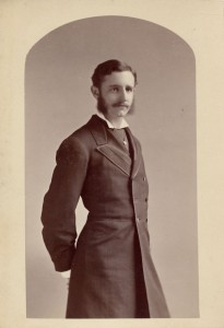 Cabinet card of Sam Bowles IV, ca. 1884-5, probably taken in connection with his marriage to Elizabeth Hoar of Concord, Mass.