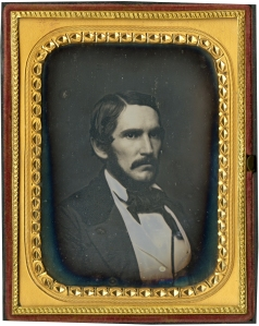 A third cased image of Sam Bowles III, this time ca. 1856.
