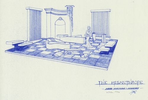 Set design for the October 1982 production of The Misanthrope