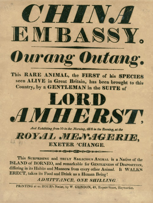 Broadside. Ca. 1817.